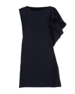 Короткое платье ANGELA MELE MILANO. Цвет: темно-синий