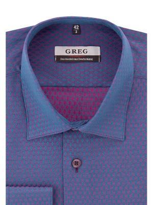 Рубашка GREG. Цвет: сиреневый