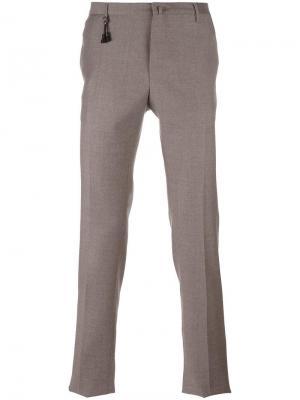 Классические брюки Incotex. Цвет: телесный