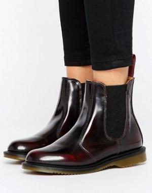 Dr Martens Бордовые ботинки челси Kensington Flora. Цвет: красный