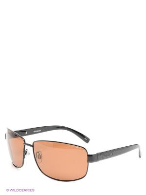 Солнцезащитные очки Polaroid. Цвет: черный, коричневый