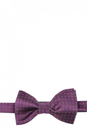 Шелковый галстук-бабочка с узором Lanvin. Цвет: фиолетовый