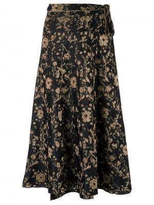 Floral pattern skirt Gig. Цвет: чёрный