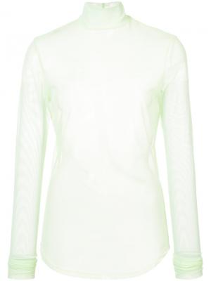 Полупрозрачная сетчатая блузка Nomia. Цвет: none