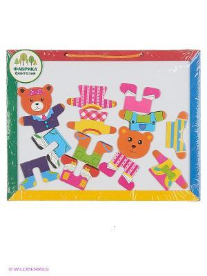 Деревянная игрушка Доска для рисования с пазлами Фабрика Фантазий. Цвет: белый