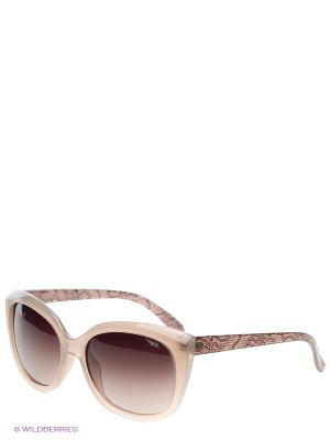 Солнцезащитные очки Legna. Цвет: бежевый, коричневый