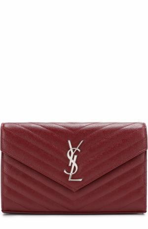 Клатч Monogram на цепочке Saint Laurent. Цвет: красный