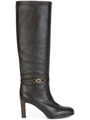 Сапоги по колено Veronique Branquinho. Цвет: коричневый