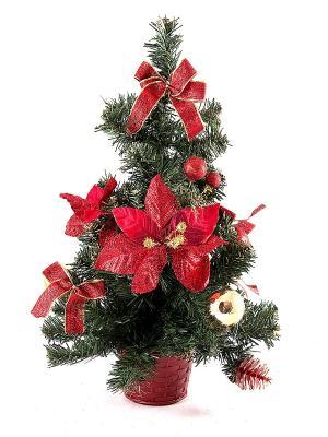 Ёлочка декоративная настольная Рождественское чудо Русские подарки. Цвет: красный, зеленый
