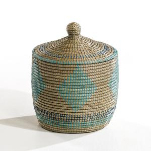 Плетеная корзина Justus маленького размера AM.PM.. Цвет: экрю / синий