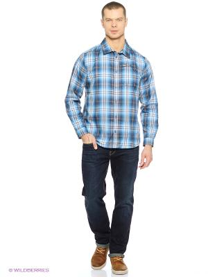 Рубашка GIFFORD SHIRT MEN Jack Wolfskin. Цвет: голубой