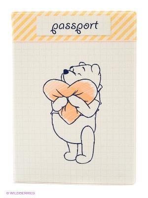 Обложка для паспорта Любимый медвежонок Kawaii Factory. Цвет: бежевый, оранжевый