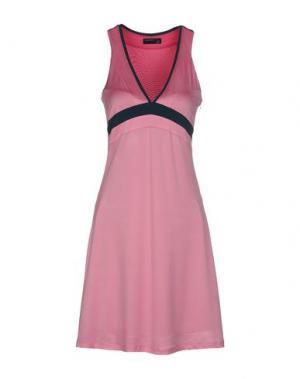 Короткое платье SIMONA MARTINI. Цвет: розовый