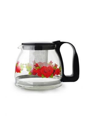 Чайники заварочные Bekker. Цвет: черный, прозрачный