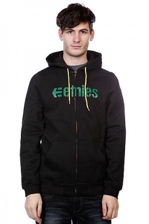 Толстовка  Corporate Zip Fleece Black Etnies. Цвет: черный