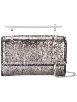 Мини сумка через плечо Fabricca M2malletier. Цвет: металлический