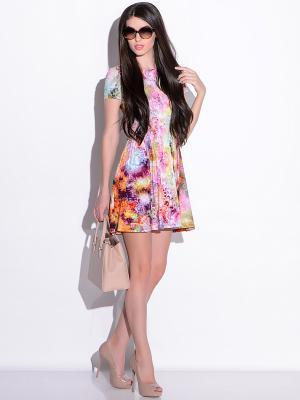 Платье Colambetta. Цвет: розовый, желтый, зеленый, фиолетовый