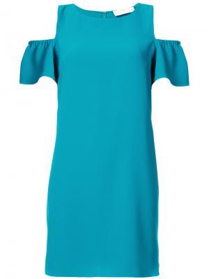 Платье с вырезными деталями на плечах Amanda Uprichard. Цвет: зелёный