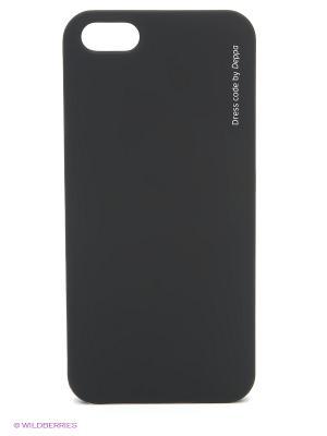 Чехол Air Case и защитная пленка для  iPhone 5/5S Deppa. Цвет: черный