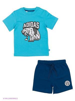 Спортивный Костюм I Soccer Lionst Adidas. Цвет: синий, голубой