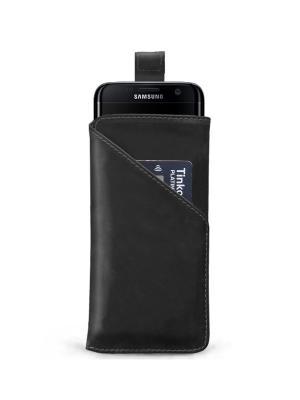Чехол для Samsung S7 Edge с ремешком ZAVTRA. Цвет: черный