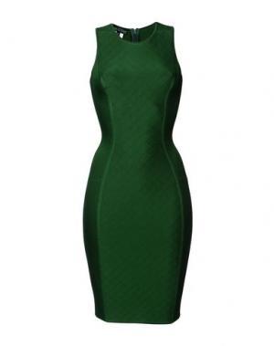 Короткое платье HERVE' L. LEROUX. Цвет: темно-зеленый