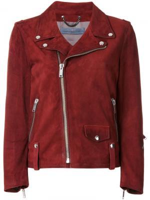 Классическая байкерская куртка Golden Goose Deluxe Brand. Цвет: розовый и фиолетовый