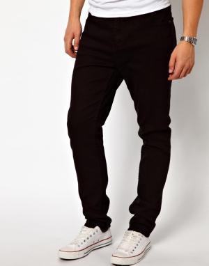 Cheap Monday Черные суженные книзу джинсы с заниженной проймой. Цвет: черный