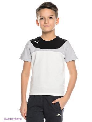 Футболка Esito 3 Leisure Tee Puma. Цвет: белый, черный, серый