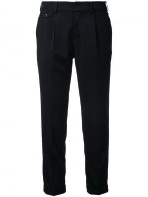 Укороченные классические брюки Loveless. Цвет: чёрный