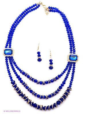 Комплект Bijoux Land. Цвет: темно-синий