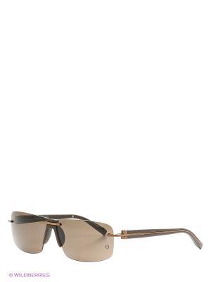Солнцезащитные  очки MB 359S 49E Montblanc. Цвет: темно-коричневый