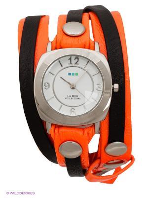 Часы La Mer Collections. Цвет: оранжевый, черный