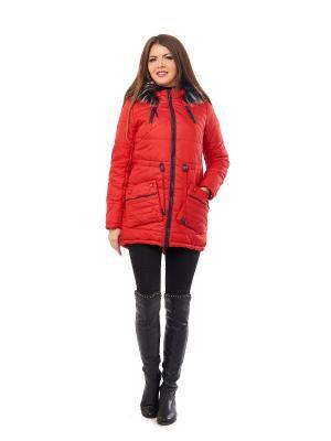 Пальто Best&Best. Цвет: красный