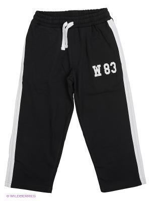Спортивные брюки WonderKids. Цвет: черный