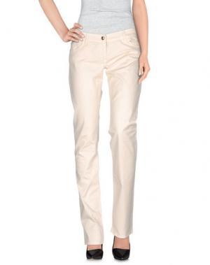 Повседневные брюки BETTY BLUE. Цвет: слоновая кость