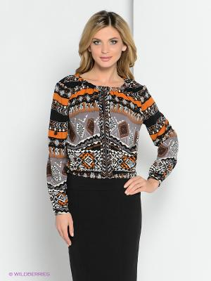 Куртка YUVITA. Цвет: серый, оранжевый