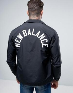 New Balance Черная спортивная куртка MJ71529_BK. Цвет: черный