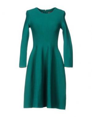 Короткое платье ISSA. Цвет: зеленый