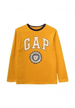 Лонгслив Gap. Цвет: желтый