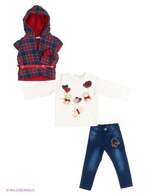 Комплект одежды Baby Rose. Цвет: красный, синий