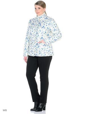 Куртка Modis. Цвет: молочный, голубой