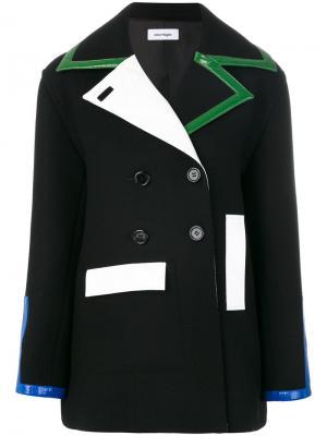 Куртка колор блок Courrèges. Цвет: чёрный
