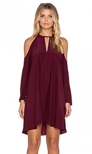 Платье с длинным рукавом jasmine Amanda Uprichard. Цвет: красное вино