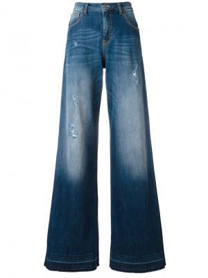 Расклешенные джинсы Amen. Цвет: синий
