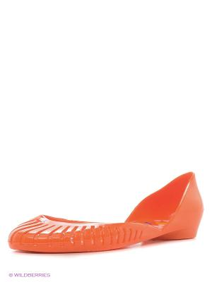 Балетки Дюна. Цвет: оранжевый