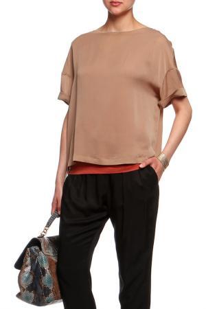 Блузка Brunello Cucinelli. Цвет: коричневый
