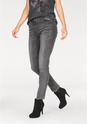 Джинсы-дудочки Aniston. Цвет: серый