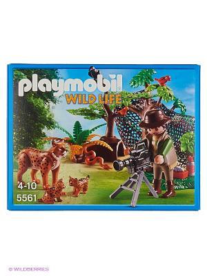 В Поисках Приключений: Семья Рысей с кинооператором Playmobil. Цвет: зеленый, коричневый