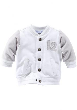Куртка KLITZEKLEIN. Цвет: белый/серый